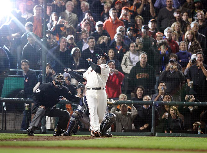 "Giants outfielder Barry Bonds became baseball's all-time home run champion on Aug. 7, 2007, hitting No. 756 deep into the San Francisco night at AT&T Park off Washington Nationals pitcher Mike Bacsik. It was Bascik, thankfully, who made the moment a little more tolerable after Bonds' chase had caused disgust among many baseball fans. Well,"" Bacsik said, ""If I didn't give up this home run, nobody would ever remember me."""