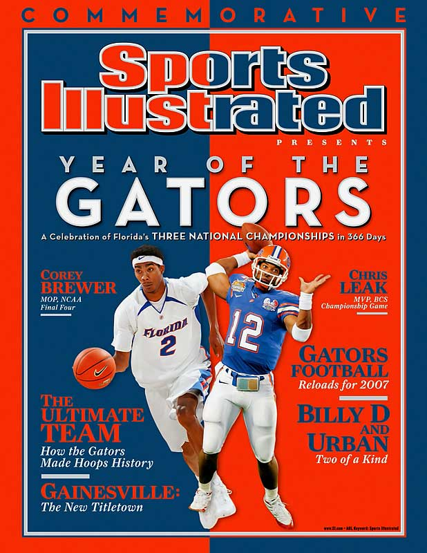 The sports capital of America.? Our vote is for Gainesville, Fla. It's certainly the college sports capital of the (Gator) nation. Florida took titles in both college football and men's basketball during the calendar year of 2007, the only team to hold both only team to hold both major championships at the same time. The basketball Gators became the first men's Division I-A to repeat at champions since Duke in 1992.