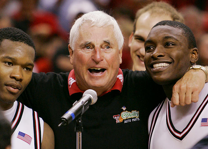 Bob Knight became the winningest coach in men's Division I college basketball when his Texas Tech team held on to beat New Mexico 70-68 on New Year's Day. Knight, who began his head-coaching career at Army in 1966, broke a tie with Dean Smith with victory No. 880.