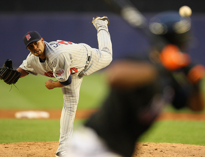 After months of negotiations, the Mets outbid their crow-town rivals, the Yankees, and the defending world champion Red Sox for two-time AL Cy Young award winner Johan Santana. Santana was due to become a free agent after the 2008 season, but if and when he signs a multi-year contract extension with the Mets, the deal will be complete and the best pitcher in baseball will be heading to New York in exchange for four prospects: outfielder Carlos Gomez and pitchers Phil Humber, Kevin Mulvey and Deolis Guerra.
