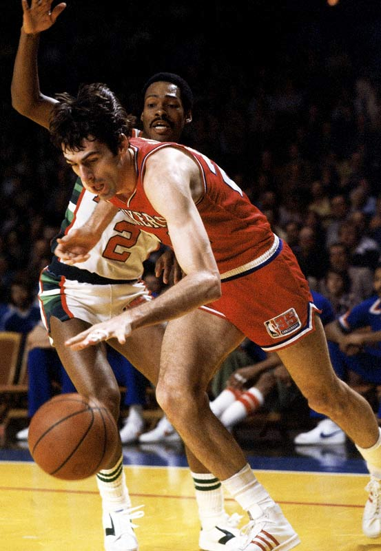 The NBA created its Sixth Man award for the 1982-83 season, and the first winner was, appropriately enough, a Sixer. Jones was a lanky, team-oriented player who specialized in steals, blocked shots, getting out on fast breaks and pestering the other teams' most potent scorers. He started with the ABA Denver Nuggets, moved to the 76ers in a deal for George McGinnis and traded a double-digit scoring average for a championship in 1983. Jones averaged 9.0 points off the bench but Philadelphia went 12-1 in the playoffs that spring.