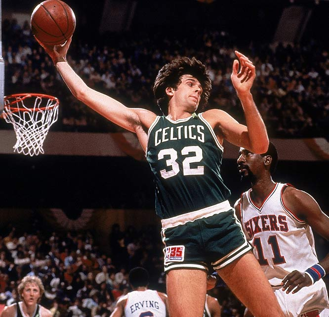 People remember McHale as one of Boston's original Big Three with Larry Bird and Robert Parish. But the 6-foot-10 power forward from Hibbing, Minn., came off the Celtics' bench for most of his first five seasons and won the Sixth Man award in both 1984 and 1985. McHale said he enjoyed his life as a sub, watching the game to see where he could fit in best and then, with his variety of low-post offensive moves, taking advantage of opponents' backup big men.