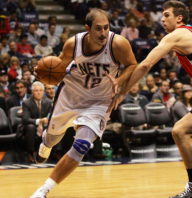 The Nets were hoping this 6-11 Serbian center had recovered enough from last year's ACL surgery to get them over the hump this season. Unfortunately for Jason Kidd & Co., it appears Krstic still has a long way to go. Over his first 12 games, he averaged just 4.9 points and 3.3 boards (down from 16.4 and 6.8 a year ago) while shooting 32.9 percent (compared to 52.6 last season). Whether it's because of the knee or a lack of conditioning, Krstic is now out of the rotation until he can get closer to form.