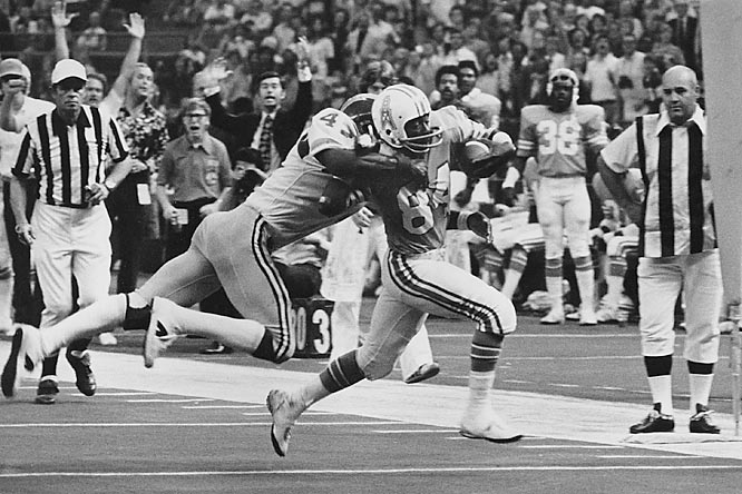 Johnson was a dangerous returner throughout his 14-year NFL career. He made three Pro Bowls and was named to the NFL's 75th Anniversary Team as a punt returner. He also revolutionized the game with his charismatic end-zone dances.