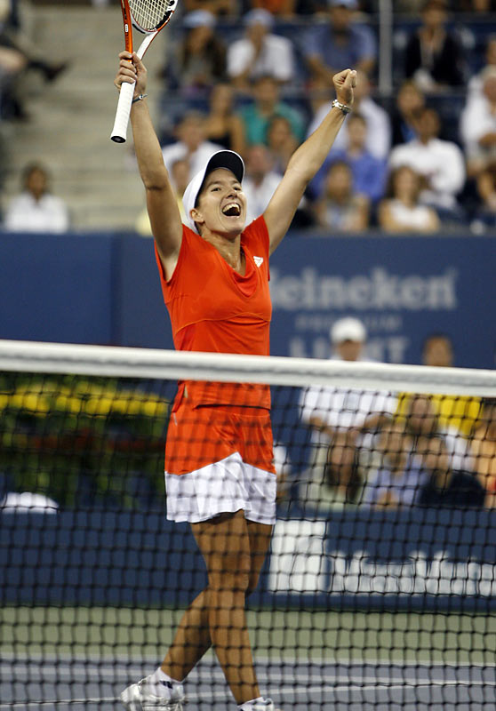 Justine Henin got her game back on track in '07, winning her fourth French Open in the past five years and her second U.S. Open.