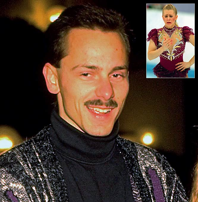Prior to marrying Gillooly (now Jeff Stone), Harding was a skating wunderkind who would ultimately win the U.S. Championships in 1990. She later became notorious as part of her husband's plot to attack rival skater Nancy Kerrigan. (Harding pleaded guilty to hindering the investigation of the attack; Gillooy was found guilty of conspiring with others to attack Kerrigan). The two were divorced in 1993 and Harding later became a professional palooka with a 3-3 record in the ring.