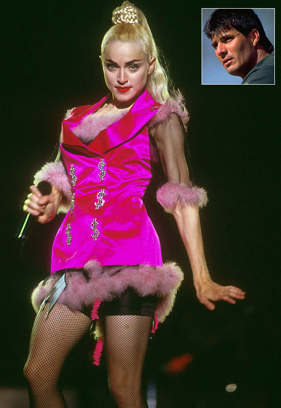 The Material Girl famously played host to the former American League MVP, Jose Canseco, in her New York hotel in May 1991. Though he finished the season with 44 home runs, his career went downhill quickly from there. Injuries limited his playing time; he wouldn't play close to a full season again until 1998, when he appeared in 151 games for Toronto.
