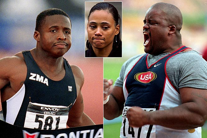 Few women have chosen poorer mates. One year after winning the 100 at the 1997 world championships in Athens, Marion Jones married shot putter C.J. Hunter, who introduced her to a new coach, Trevor Graham, who led Jones to multiple Olympic golds (since stripped) in 2000 through performance-enhancing substances. (Hunter was nailed for doping two months before the Sydney Olympics, though the result was not made public until the middle of the Games; the two later divorced). In June 2003 Jones gave birth to a son with sprinter Tim Montgomery, who was eventually banned from the sport for steroid use. Jones later admitted to lying about her knowledge of the involvement of Montgomery in a scheme to cash millions of dollars worth of stolen or forged checks. She was given a six-month prison sentence for lying to federal investigators over her use of steroids.