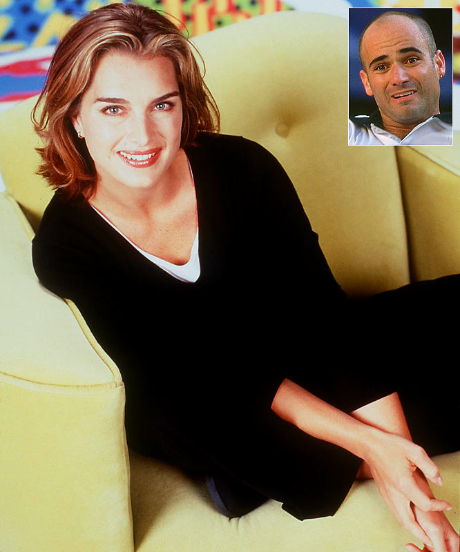 Trophy wives don't come more decorated than Brooke Shields, a four-time People's Choice winner, former Calvin Klein model and ex-wife to eight-time Grand Slam champion Andre Agassi. Want to know what got between her and Andre? How 'bout a nagging wrist injury that limited him to just 24 matches and saw his ATP ranking plummet to a career-low No. 141? Soon after the couple's 1999 divorce, Agassi rebounded to a 6th-place world ranking, a landmark win in the French Open -- a win that made him the fifth man to net all four Slams in a career -- and, most satisfyingly, into a relationship with Steffi Graf, whom he married two years afterward.