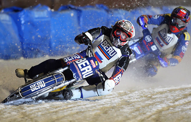 Sports Illustrated photographer Bob Martin traveled to Inzell, Germany recently and took these stunning images at the Ice Speedway World Championships.