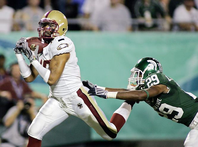 Matt Ryan led Boston College to its eighth consecutive bowl victory by throwing three touchdown passes. Jamie Silva led the Eagles' defense, recording two interceptions, including one in the end zone.