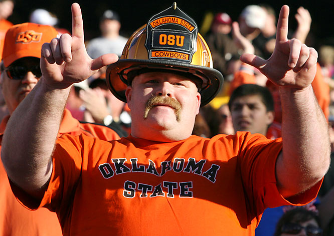 The Insight Bowl's best mustache belongs to this Cowboys fan.