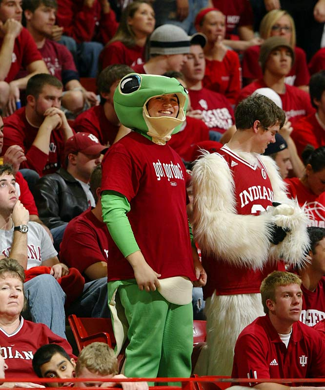 Indiana fans don some interesting threads for a Big Ten game against Illinois.