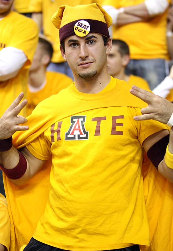 Like most good Sun Devils, this ASU fan hates Arizona.