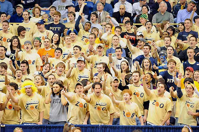"Pitt fans welcome Georgetown to ""The Zoo."""