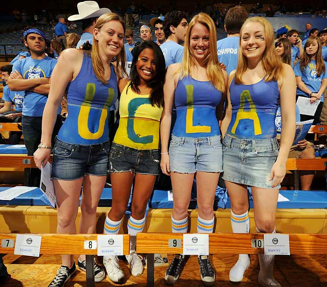 These UCLA fans wore their best tube socks for Saturday's game against USC.
