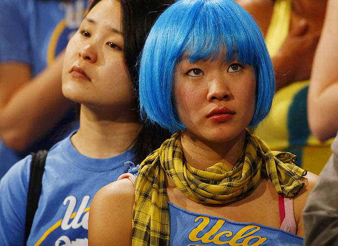 This Bruin fan wears her UCLA pride on her head.