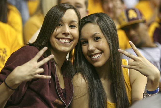 It wouldn't be an Arizona State game without a picture of two extremely good-looking co-eds.