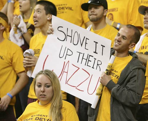 The Sun Devils did not stick it up the Cougars' Wazzu. In fact, Washington State squeezed out a one-point victory over ASU, 56-55.