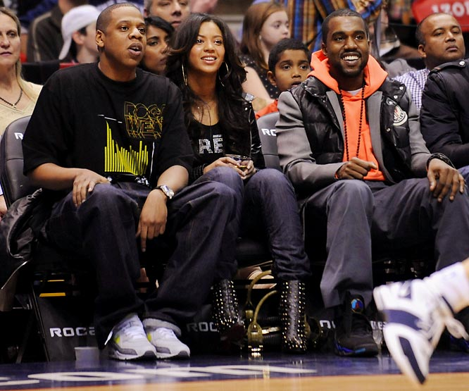 """Joining partial Nets owner Jay Z and Beyonce was Kanye West. The Knicks are now losing on the court and in the """"who has better celebrities at courtside"""" battle..."""