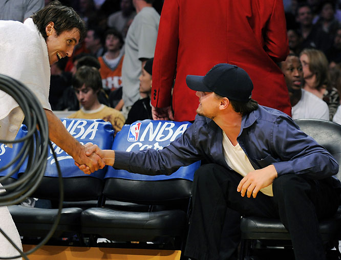 The Steve Nash fan club includes Leonardo DiCaprio...