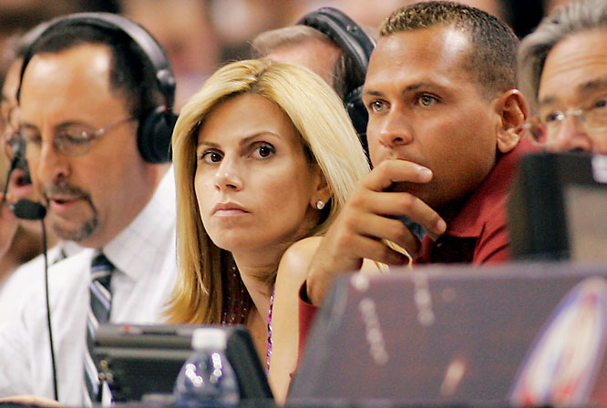 "Alex Rodriguez and wife, Cynthia, took in a Trail Blazers-Heat game. Has anyone else noticed there's been an abundance of photos of them together since the whole ""stripper"" incident?"
