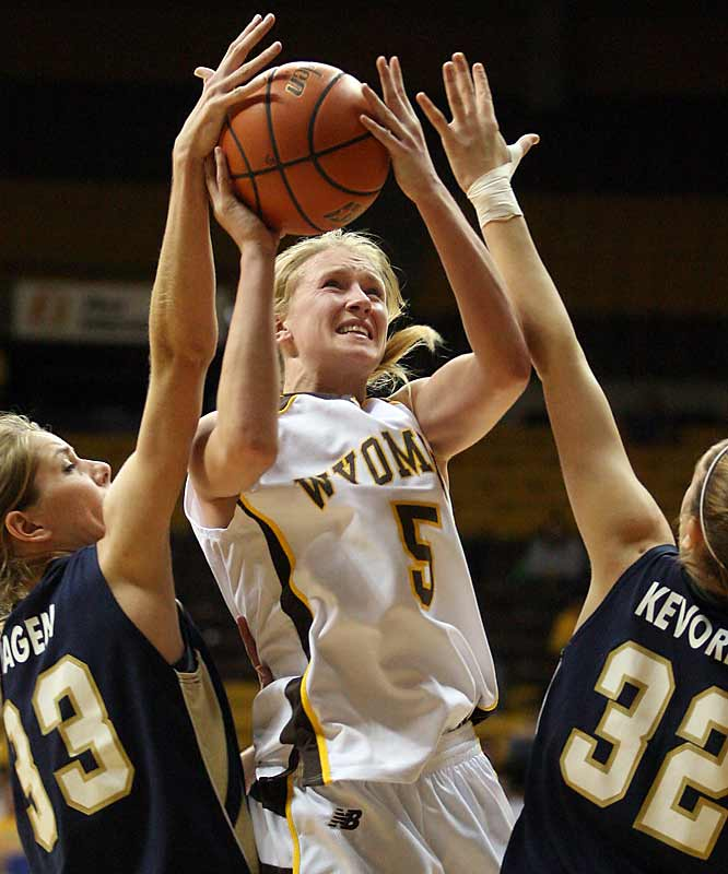 "Wyoming coach Joe Legerski told SI, ""I believe Hanna will go down as the best player in Wyoming history.""  The forward is averaging 15.4 points, 5.5 rebounds and 3.9 assists a game for the No. 18 Cowgirls in the first year they have been ranked."