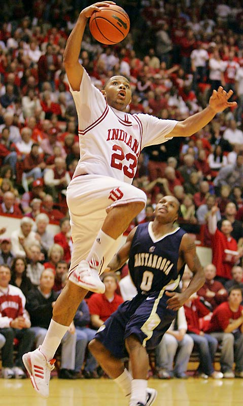 Last year's Mr. Indiana grabbed 23 points in the Hoosiers' win over Big Ten rival Michigan Tuesday night.