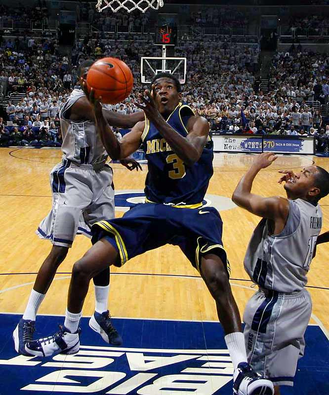 He matched up against fellow freshman Eric Gordon Tuesday night -- the Wolverines lost, but Harris pushed Gordon into foul trouble early in the first half and finished with 19 points.