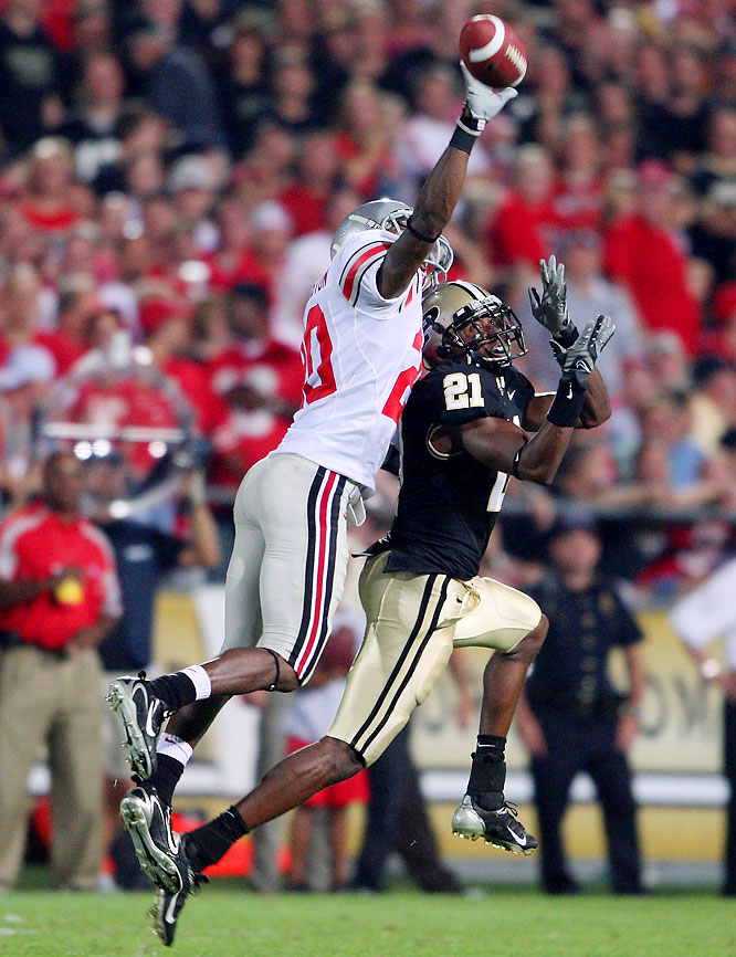 The Boilermakers' explosive offense -- which entered this game averaging 45 points and 496 yards per game -- was supposed to challenge the Buckeyes, but Ohio State held Purdue to seven points and 272 yards.