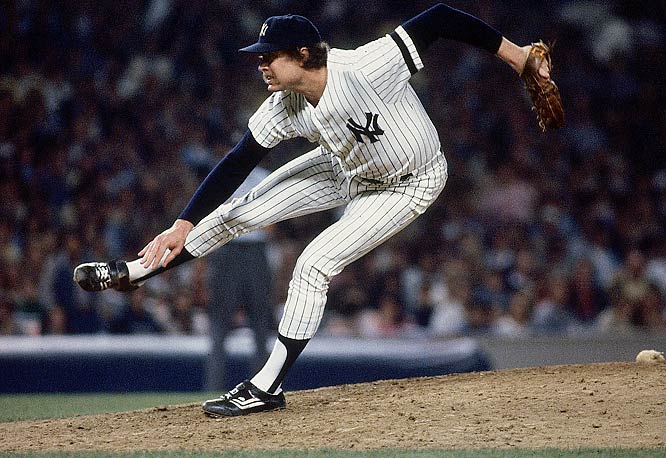 A wild follow through was part of Gossage's identity and it helped add to his persona as an intimidator. He was far from wild with the ball in his hands, however, finishing his career with more than twice as many strikeouts (1,502) as walks (732).