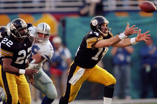 The Steelers finished 11-5 in 1995 and were considered a good team, but the Cowboys were at the peak of their 1990s dynasty with stars Troy Aikman, Emmitt Smith and Michael Irvin. The Steelers, led by young coach Bill Cowher, fought hard, but couldn't overcome three interceptions by Neil O'Donnell (14) and lost 27-17.