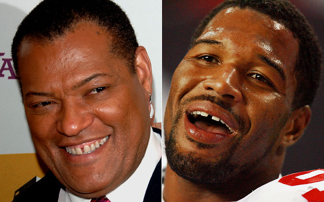 Laurence Fishburne as Michael Strahan:<br><br>He'll have to bulk up for the role, but he can pull if off.