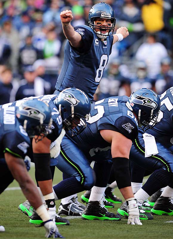 Preferring the pass over the run, Hasselbeck finished 20-for-32 for 229 yards with one touchdown.