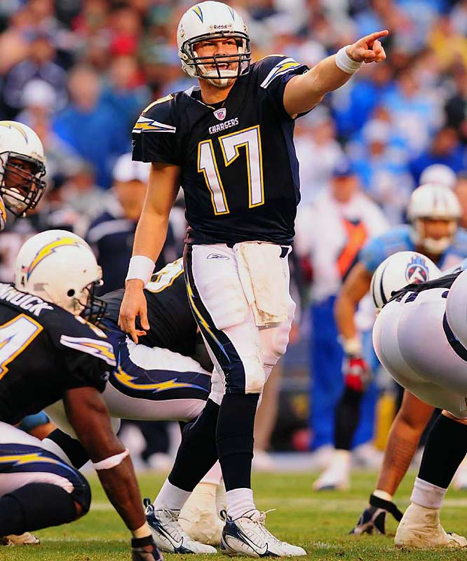 With two-time NFL rushing champion LaDainian Tomlinson bottled up by the Titans defense and three-time All-Pro tight end Antonio Gates lost to a sprained left big toe late in the second quarter, quarterback Philip Rivers stepped up, throwing a 25-yard touchdown pass to Vincent Jackson late in the third quarter that gave San Diego its first lead at 10-6. Rivers was 19-of-30 for 292 yards, with one interception.