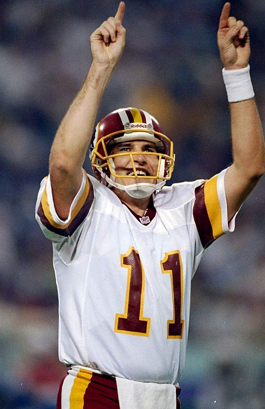 Rypien enjoyed a career season as the Redskins finished with a 14-2 mark and advanced to Super Bowl XXVI. But few could foresee the Washington quarterback's complete dismantling of Buffalo's vaunted defense, as Rypien directed the `Skins to a 24-0 lead in the third quarter. Rypien ended up completing 18-of-33 passes and a pair of touchdowns to become the first Canadian-born player to garner Super Bowl MVP honors.