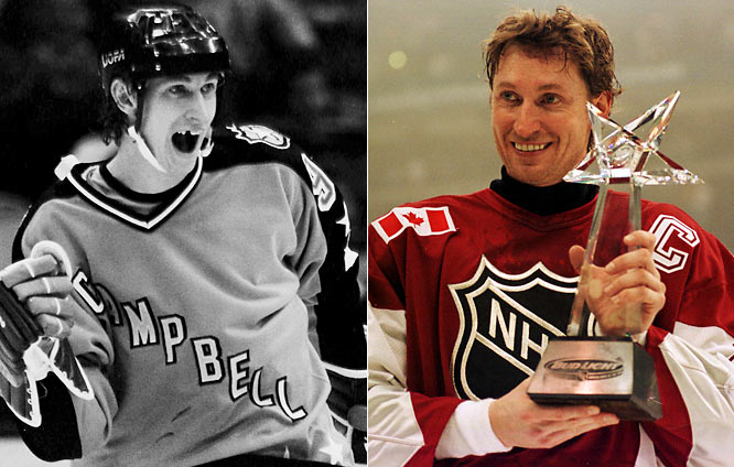 It's no surprise that the Great One owns the career All-Star scoring record (25 points). He played in 18 games and was a three-time MVP, the most notable occasion being his emotional return to Edmonton as a King in 1989. He scored a goal and added two assists in the Campbell Conference's 9-5 win.