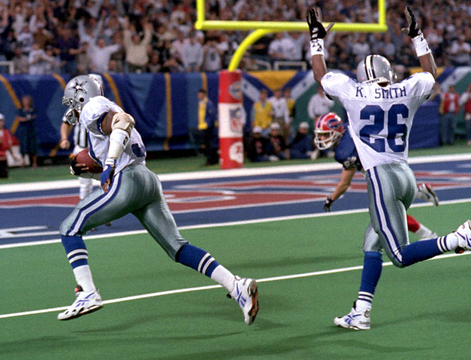 Washington came off the bench as a nickel back for the Cowboys throughout the 1993 season. But the bandana-wearing free safety enjoyed starter's minutes in Super Bowl XXVIII thanks to Buffalo's dependence on three-receiver sets. Washington made the most of his expanded role, recording 11 tackles, an interception, a forced fumble and, most memorably, a recovery of Thurman Thomas's fumble for the game-turning touchdown midway through the third quarter.