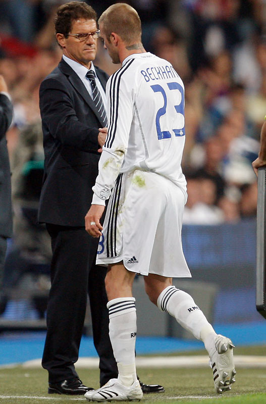 The Italian coach's stormy tenure at Real Madrid is now infamous for his unilateral decision to -- gasp! -- bench the aging Beckham. But pressure from both his players and the fans forced him to put international soccer's pretty boy back on the field, and Becks promptly led Real to its first title in four years before leaving for Major League Soccer. Now Capello has been hired to coach the flailing English national team -- did he learn his lesson the first time?