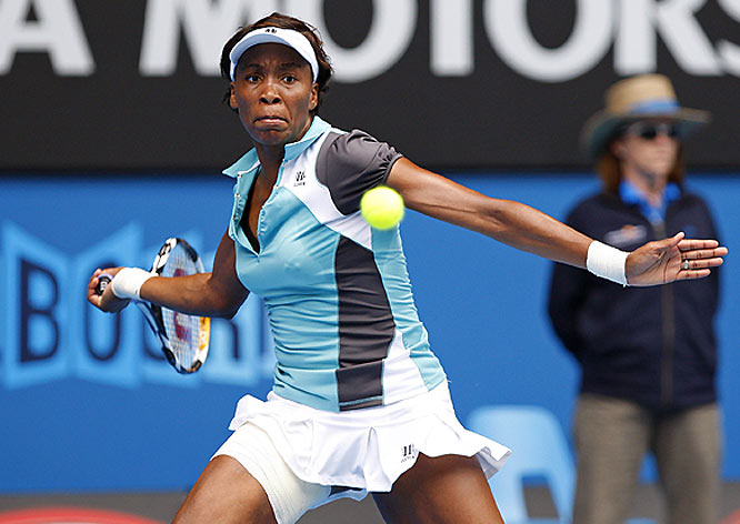 Still winless in Australia, Venus nevertheless showed fine form reaching the quarters. Fell to Ana Ivanovic in a match she could have won. She should leave Australia fairly encouraged with the level of her play.
