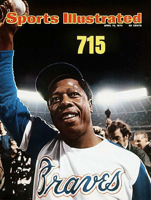 Aaron became not only professional baseball's homerun king with 755, but also it's record-holder in runs (2,297), total bases (6,856), and extra-base hits (1,477).  After retirement, he became one of the first blacks to work at the league's executive-level as vice president of Atlanta's player development.