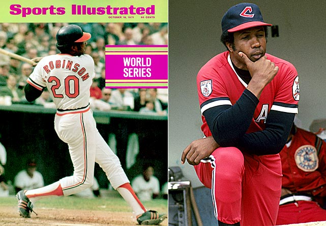 As the only player to win league MVPs in both of baseball's American and National Leagues, Robinson also became the first African-American manager in 1975 with the Cleveland Indians.
