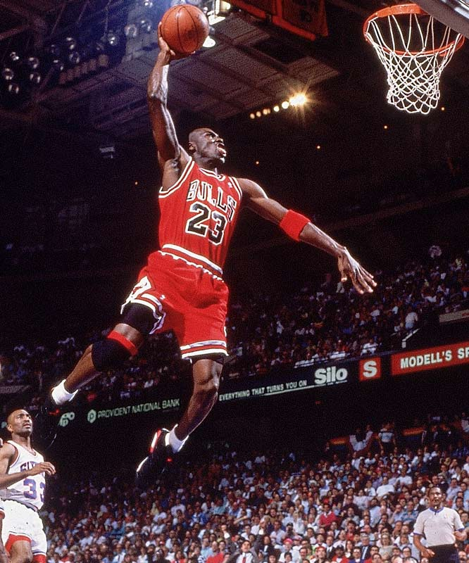 """The leader of the dynastic Chicago Bulls has a basketball resume too long to list and the fame to follow. Jordan was the key ingredient to popularizing the game during the 1980s and `90s, and is remembered as """"the greatest player of all time."""""""