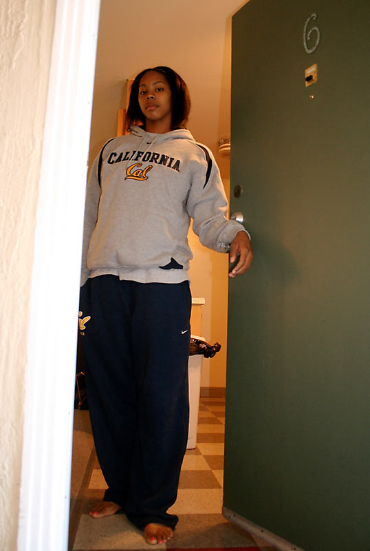 Welcome to the apartment of Cal basketball All-American Ashley Walker. Currently leading the tenth-ranked Bears in points, rebounds, blocks and free throw percentage, the 6-foot-1 forward/center is a junior American Studies major and Cribs caught her in the midst of writing a 10-page paper. This is Berkeley, after all.