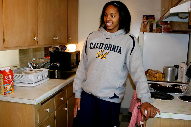 "Walker shares her North Berkeley apartment with one roommate, who had recently baked the brownies seen on their stove. ""I like to cook out of season,"" she said, ""but we have training table now."" We should all be so lucky."