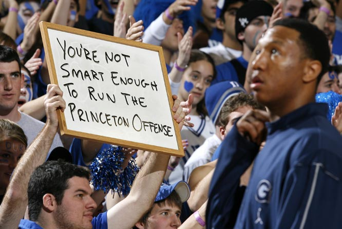 Jeff Green was the target of this Duke fan's wrath when the two teams squared off in December, 2006.