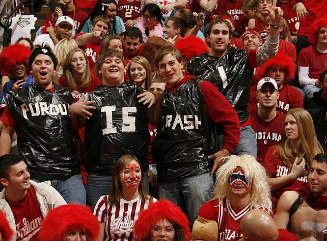 Indiana fans talk trash to their in-state rival Purdue.