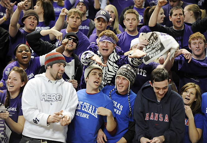 What happens when a group of Jayhawks show up in Manhattan for a Kansas-Kansas State matchup? They get harassed, of course.