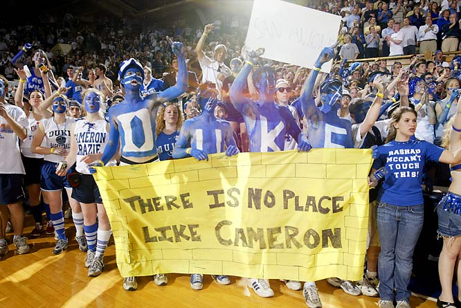 Cameron Crazies line up outside Cameron Indoor Stadium before a 2004 matchup with UNC.