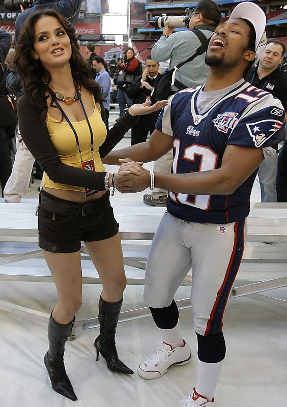 Journalists were hard at work on Media Day earlier this week. Reporter Marisol Gonzalez danced with Patriots' wide receiver Bam Childress.